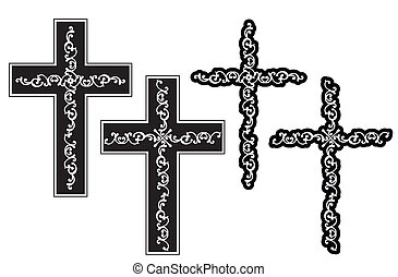 chrześcijanin, projektować, krzyż
