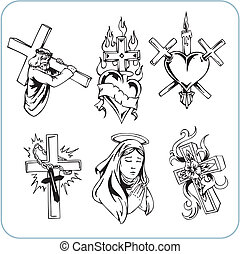 chrześcijanin, zakon, -, wektor, illustration.