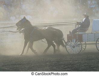 chuckwagon in dust