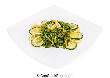 chuka salad on white