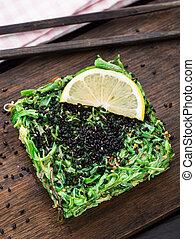 Chuka salad - Vegetarian chuka salad on a wooden board