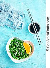 chuka salad - Chuka Seaweed Salad in ceramic bowl, chuka ...