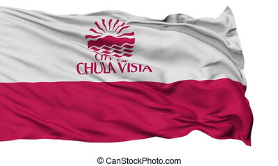 Chulavista City, California Flag Isolated Realistic...