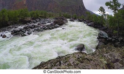 Chulyshman River. Altai Mountains