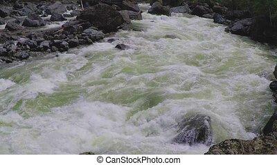 Chulyshman River, slow motion