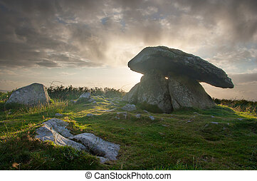 Chun Quoit Cornwall England UK - Believed to date to around...
