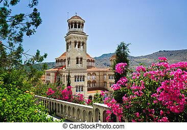 Church Agios Nectarios on island Aegina, Greece - religion ...