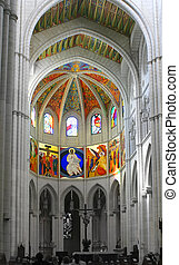 church altar - Desaturated image of Altar in Madrid\\\'s...