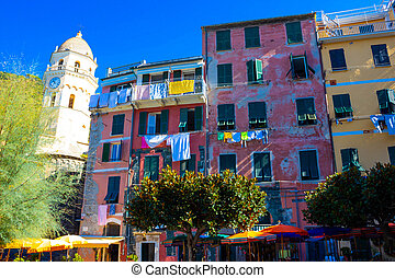 beach in Vernazza town, Cinque Terre National Park