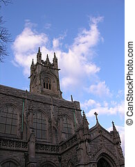 Church and blue sky.
