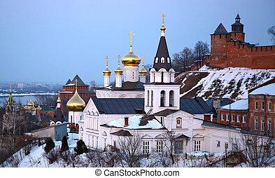Church and Kremlin in Nizhny Novgorod