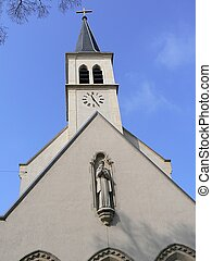 church and sky blue