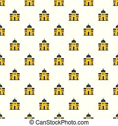 Church architecture pattern seamless vector
