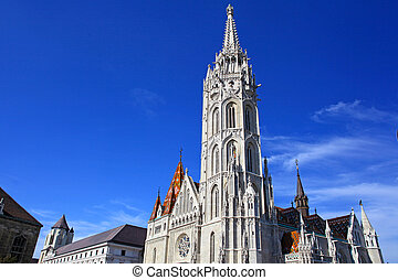 Church at Buda Castle in Budapest, Hungary