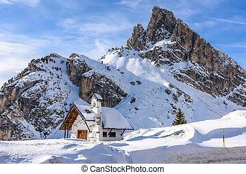 Church at Falzarego Pass