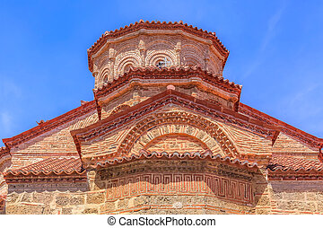 Church at Great Meteoro Monastery, Greece - Partial view of ...