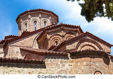 Church at Great Meteoro Monastery in Meteora rocks, ...