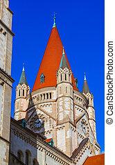 Church at Mexikoplatz in Vienna Austria