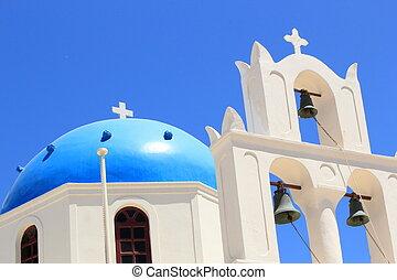 Church at Oia, Santorini, Greece