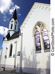 Church at village Cernova, Slovakia - CERNOVA, MARCH 8: Old...