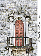 Church Balcony - A balcony and door in a cathedral