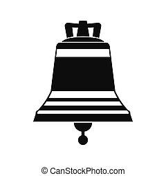 Church bell black simple icon