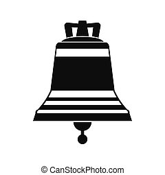 Church bell black simple icon