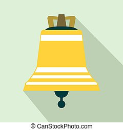 Church bell flat icon