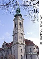 Church Bell Tower in Saint Paul