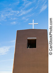 Church Bell tower with cross #1