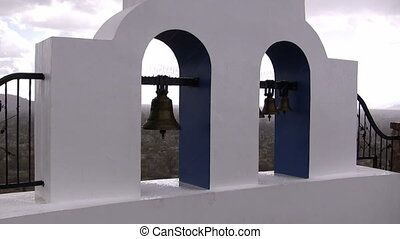 Church Bells Hail - Hail storm on the church bells with...