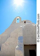 Church bells in Mykonos, Greece