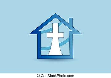Church big cross logo