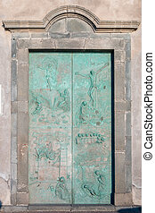 Church Bronze door