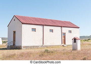 Church building converted into a school in Waterkloof near Philippolis