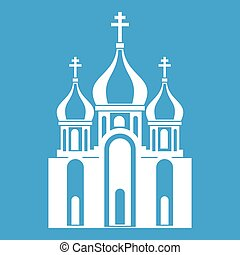 Church building icon white