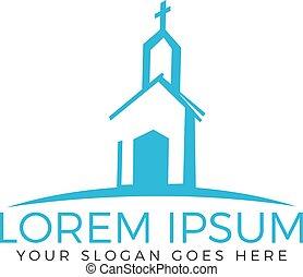 Church building logo design.
