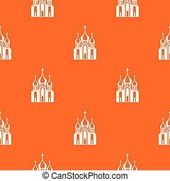 Church building pattern seamless