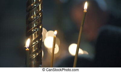 Church candles religion