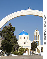 church cathedral oia santorini greek islands