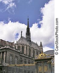 Ste Chapelle, Paris - build in 13th century by Saint Louis (Louis IX) -
