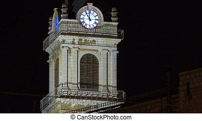 Church clock tower timelapse - Terra Santa High School in...