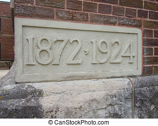Church Cornerstone - Cornerstone showing the age of a church...