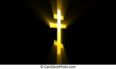 Church cross animation. Seamless loop