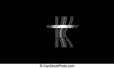 Church Cross Christianity Religion icon Vintage Twitched Bad Signal Animation.