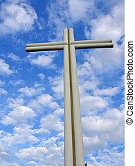 cross on the sky