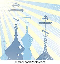 church cupola - religion scenery with church cupola...