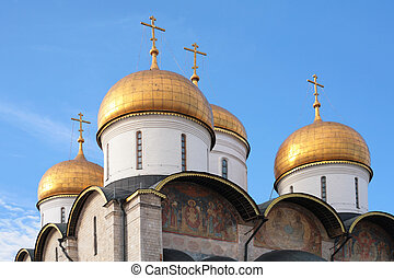 church cupola . Kremlin. Moscow.