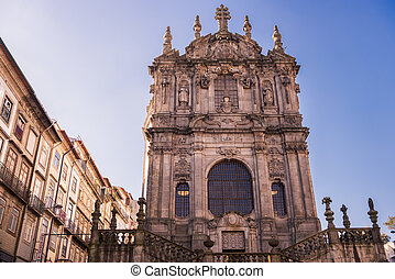 Church de Los Clerigos, Oporto, Portugal - Facade of the...