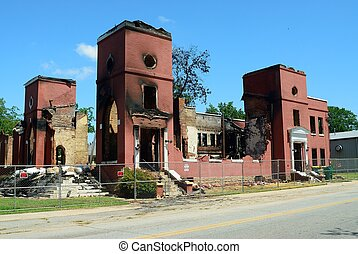 Church Destroyed by Fire